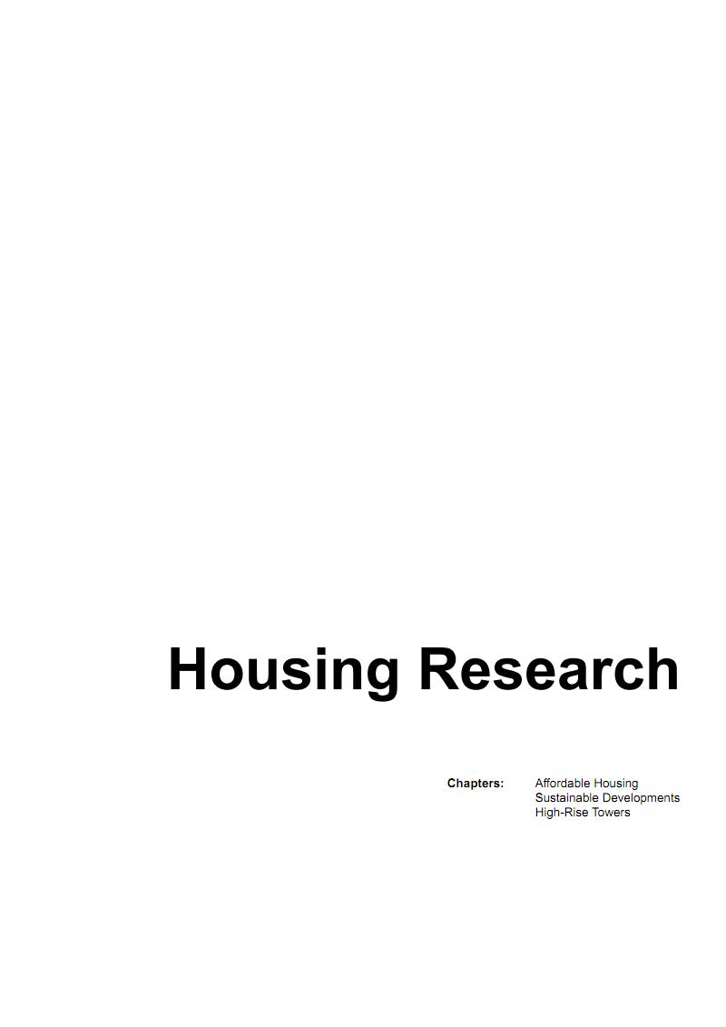 著名国外建筑设计事务所竞标方案--White City OMA AMO ARUP-Housing Precedent Analysis.pdf