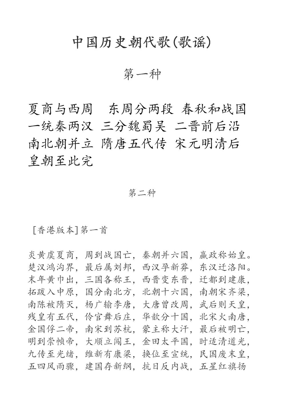 中国历史朝代歌(歌谣.doc