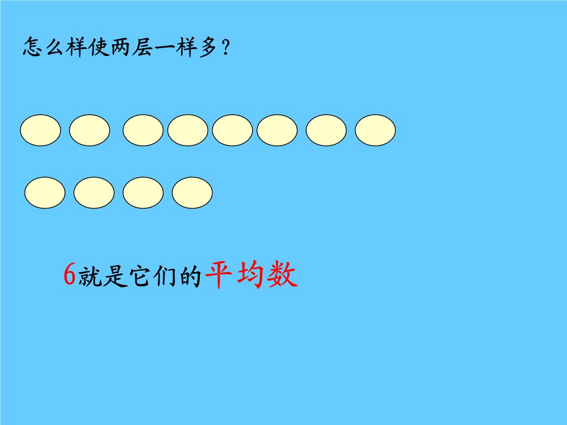 有5个数平均数是9_新人教版四级数学下册平均数课件.ppt