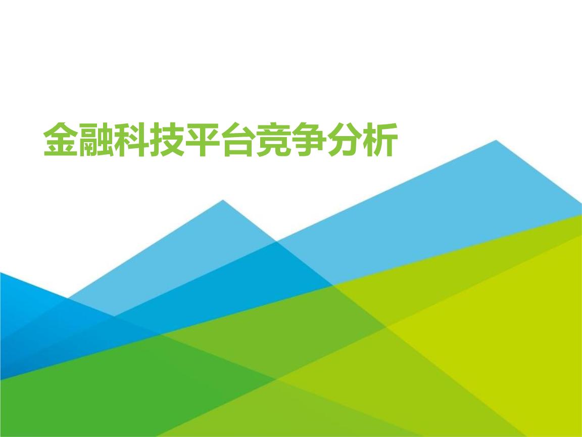 金融科技平台竞争分析.pptx