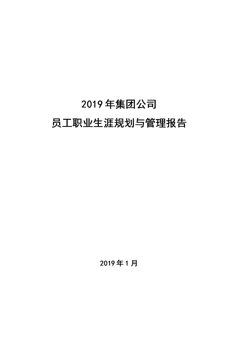 2019年集团公司员工职业生涯规划管理制度.doc