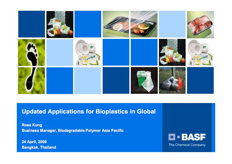 Updated Applications for Bioplastics in Global生物材料市场