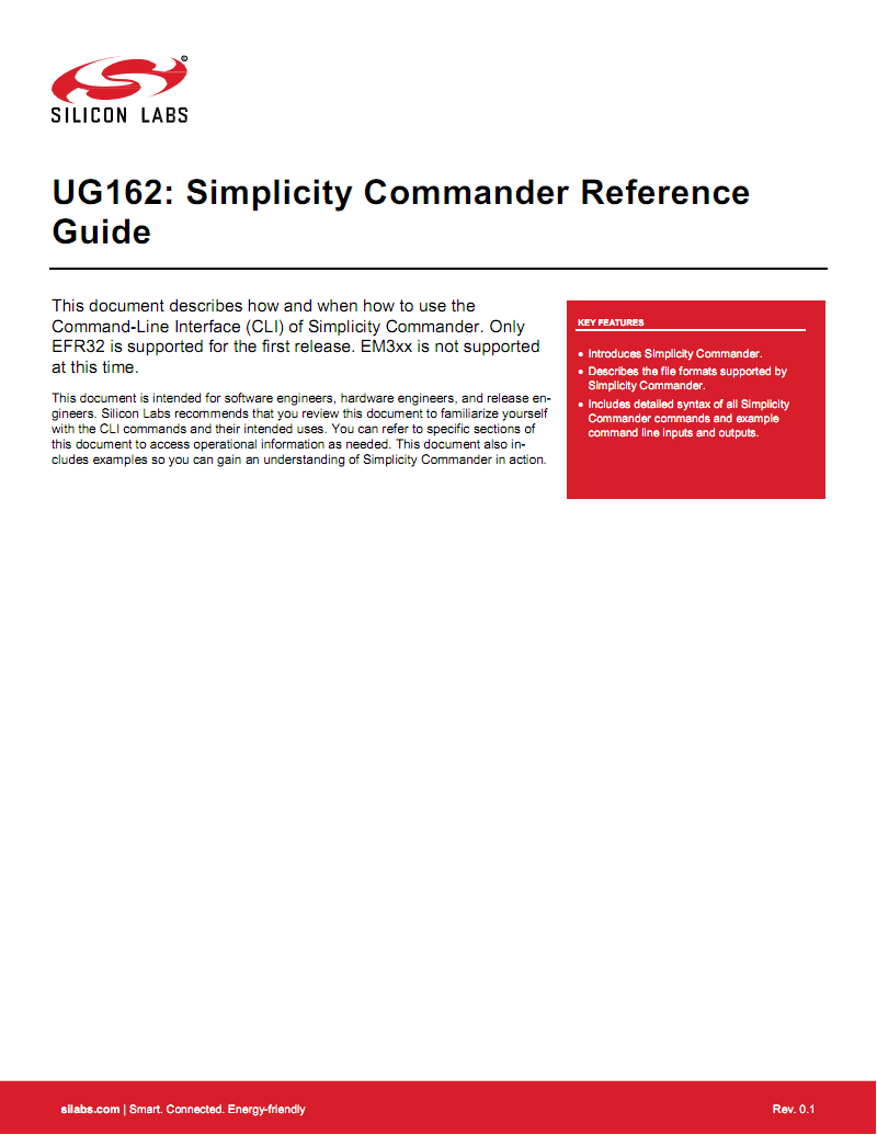 UG162-SimplicityCommanderReferenceGuide英文学习资料 pdf