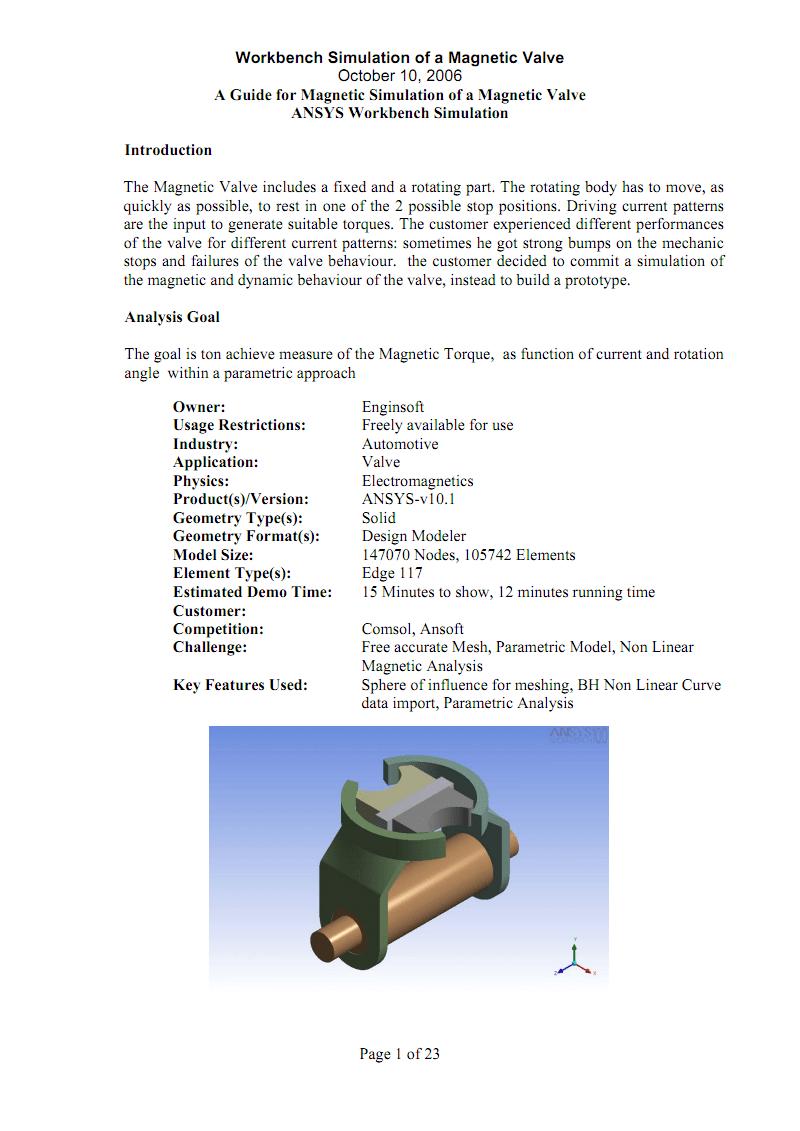 ansys workbench电磁场仿真完整例子 pdf 文档全文预览