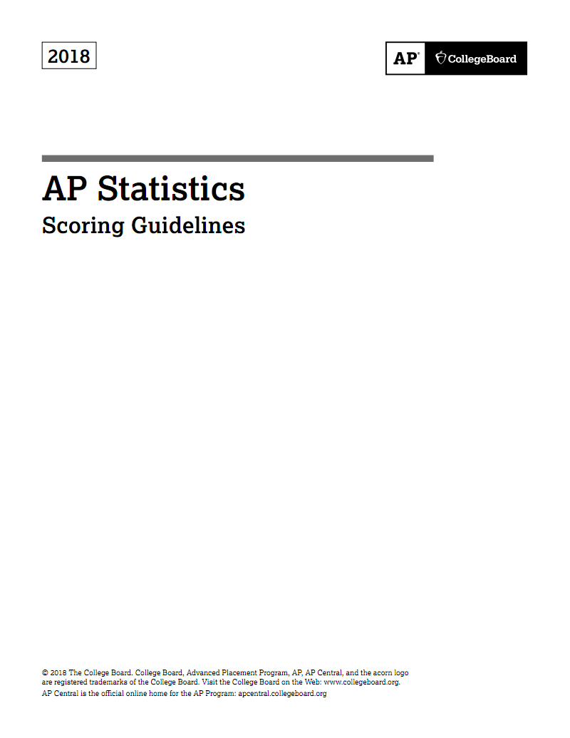 AP Statistics Scoring Guidelines英文资料 pdf-全文可读