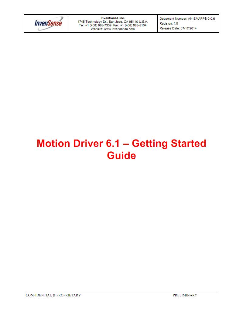 mpu9250与mpu6050官方dmp库61版手册合集 pdf-全文可读