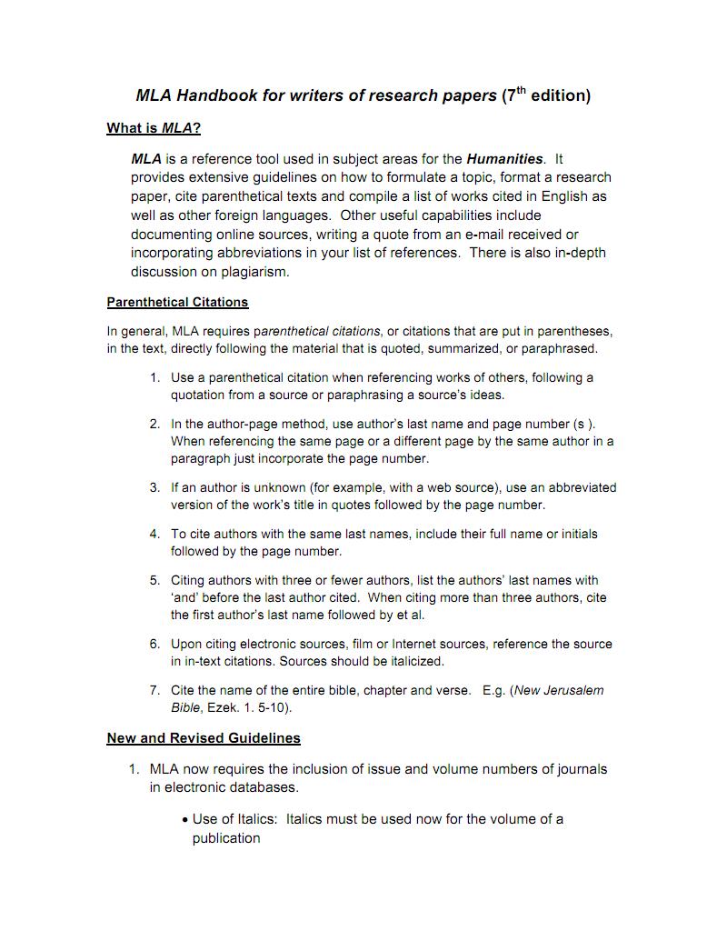 MLA handbook英文 pdf-全文可读