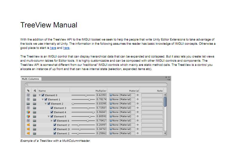 Unity 5 6 编辑器控件TreeView 使用手册 pdf 文档全文预览