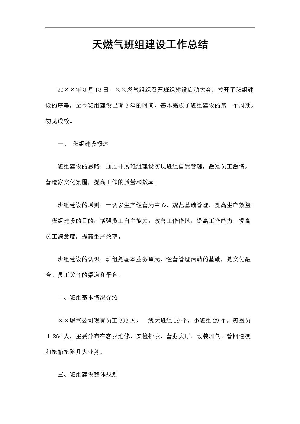 天燃气班组建设工作总结.doc